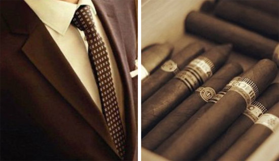 tie and cigar