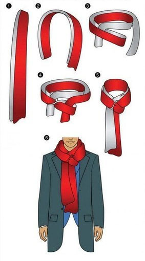 How to tie a Scarf - Four in Hand