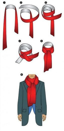 How to tie a Scarf - Reverse Drape Cross
