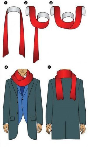 How to tie a Scarf - Reverse Drape