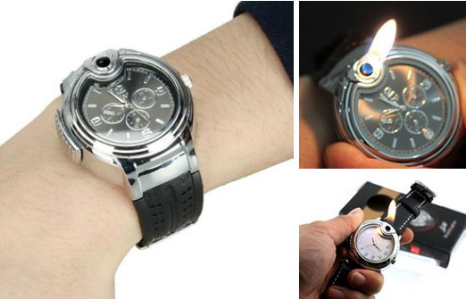 watch with cigarette lighter