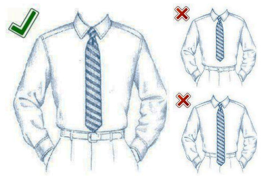 what length tie