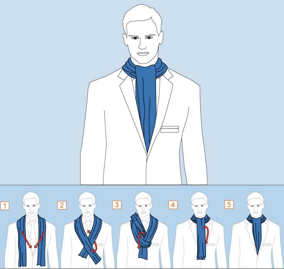 How to tie a Scarf – Over Hand