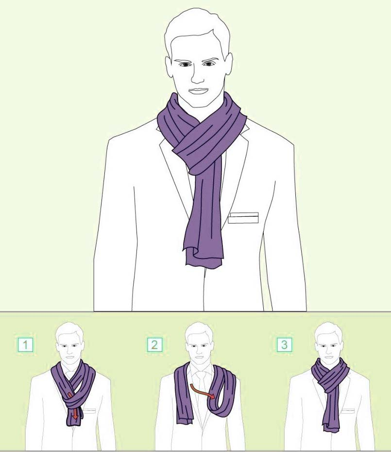 How to tie a Scarf – Parisian Knot